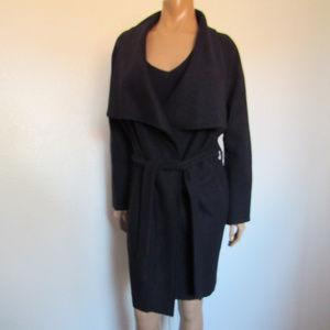 ZARA Wool Blend Draped Belted Wrap Cardigan ~NWT~